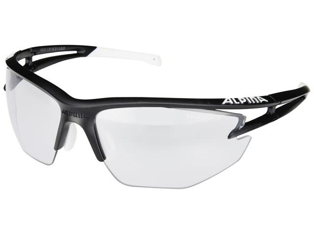 Alpina Eye-5 HR VL+ Glasses black matt-white/black